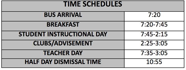 HS Time Schedule