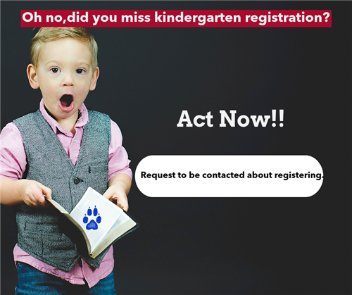 Still need to register for Kindergarten? Click here to email our Registrar.