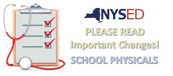 PARENTS: IMPORTANT INFORMATION REGARDING SCHOOL PHYSICALS