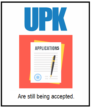 UPK applications are still being accepted - graphic
