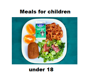 Meals for children under the age of 18 regardless of free, reduced or full-pay status.